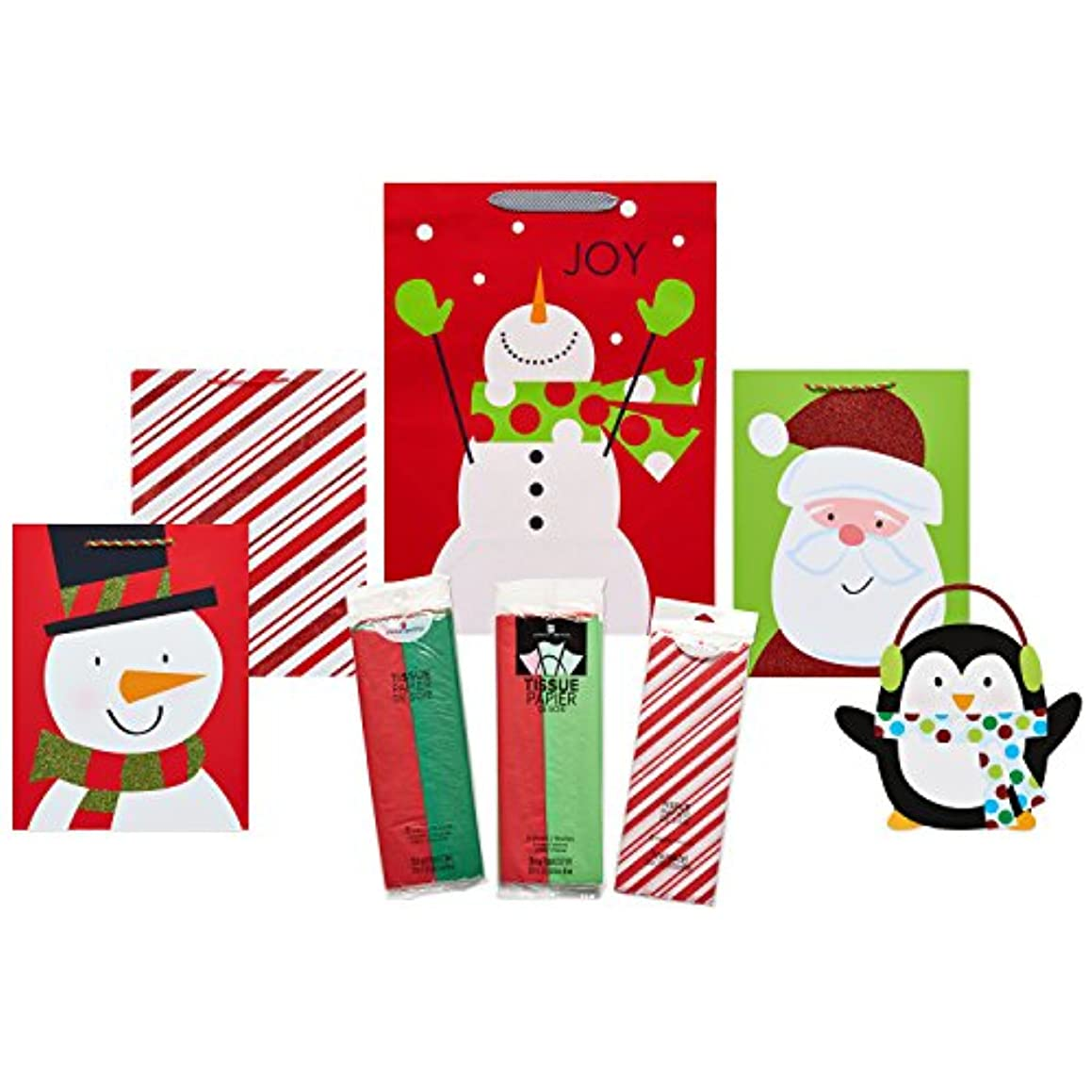 American Greetings Christmas Small, Medium, and Large Gift Bags, 8 Count