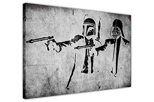 Canvas It Up Kunstdruck auf Leinwand, Motiv: Star Wars / Pulp Fiction - Sturmtruppen, Graffiti-Stil Europäisch 8- A1 - (76 x 60 cm)