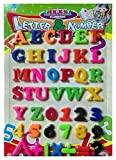 JSJJARF Imán de Nevera Set de Regalo Imanes Enseñanza Alfabeto Conjunto de 26 Coloridas Números de Nevera magnética Números Educación Aprender