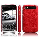 Handy Kasten für BlackBerry Classic Q20 PU Leder Krokodil Haut Hülle Back Hülle Cover (Rot)