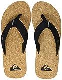 Quiksilver Molokai Abyss Cork, Scarpe da Spiaggia e Piscina Uomo, Marrone (Black/Brown/Brown Xkcc), 43 EU