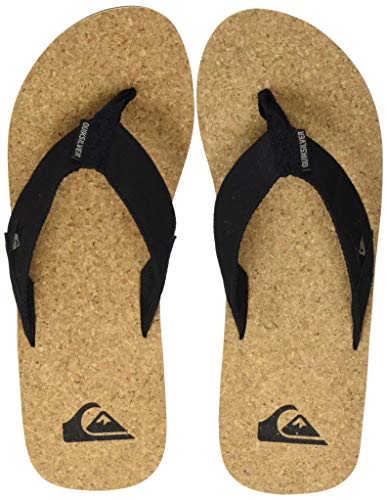 Quiksilver Molokai Abyss Cork, Zapatos de Playa y Piscina para Hombre, Marrón (Black/Brown/Brown Xkcc), 42 EU