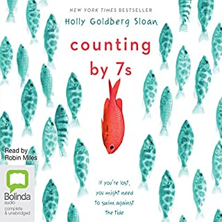 Counting by 7s                   Written by:                                                                                                                                 Holly Goldberg Sloan                               Narrated by:                                                                                                                                 Robin Miles                      Length: 7 hrs and 15 mins     1 rating     Overall 4.0