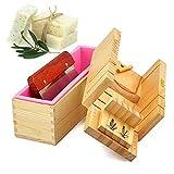 Holzsammlung Höhenverstellbar Holz Seife Laib Cutter Form Box Silikon Toast Fall rechteckig mit...