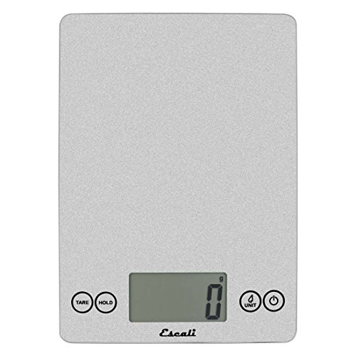 Escali Arti 157SS Precision Glass Surface Kitchen, Herb, Nutrition, Calorie Counting Scale, Digital LCD Display, 15lb Capacity, Shiny Silver, 9 x 6.5 x .75
