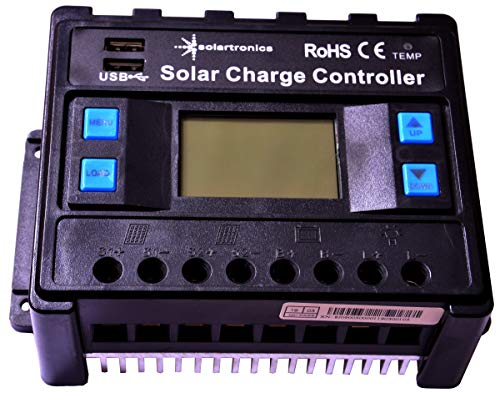 solartronics 50A Laderegler 12V/24V blau Photovoltaik Solarladeregler Solar PV