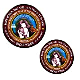 """Oscar Wilde Writer Born Astrology Libra Zodiac Wood Tiger 3"""" Magnet + 2.25"""" Pin Back Button Mylar Covered 3"""" Magnet + 2.25"""" pin back button Color Laser printed and polished by hand before being placed in cellophane bag for protection Oscar Wilde was ..."""