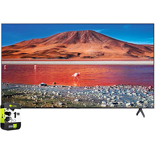 Samsung UN75TU7000FXZA 75 inch 4K Ultra HD Smart LED TV 2020 Model Bundle with Support Extension