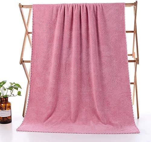 LIGUANGWEN Toallitas De Microfibra Súper Absorbente Toalla De Baño Bañera Absorbente Fibra Superfina Suave Cómoda Toalla De Baño (1pc) (Color : Rose, Size : 1pc)