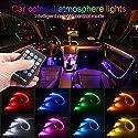 TABEN Auto Innendekoration Atmosphäre Licht LED Auto Innenbeleuchtung Kit mit 8 Farben Wasserdicht Innen Atmosphäre Neon Licht Streifen für Auto 1 W DC 12 V (1 Set)