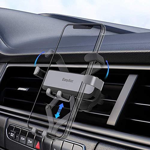 EasyAcc Handy Autohalterung, Auto Vent Halterung - Universal 360 Grad Drehung KFZ Lüftung Halter für iPhone SE 11 pro OnePlus Nord Galaxy M31 A51 Huawei P30 lite Redmi Note 8 Pro alle 4.5-7 Zoll