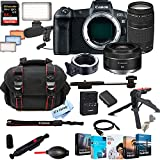 Canon EOS R Mirrorless Digital Camera with RF 50mm f/1.8 STM Lens Bundle + 75-300mm F/4-5.6 III Lens + 128GB Memory + Case + Filters + Tripod (26pc Bundle)