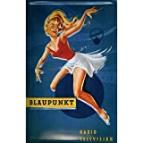 Blaupunkt Música Chica Pinup Radio & TV Publicidad 3D Metal/Cartel De Acero Para Pared - 30 x 20 cm...