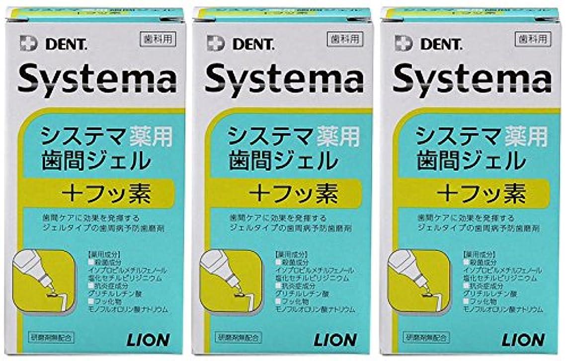 工夫するシェルファウルライオン DENT システマ薬用歯間ジェル 20ml(3本セット)