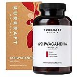 Kurkraft® Premium Bio Ashwagandha - Vegan - Hochdosiert - Original indische Schlafbeere- ohne Zusatzstoffe - in bester Bio-Qualität - DE-ÖKO-007