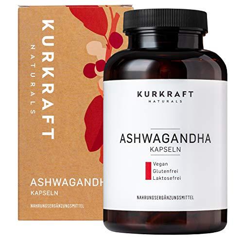 Kurkraft Premium Bio Ashwagandha (180 Kapseln) - 600mg je Kapsel (1800mg je Tagesportion) - Vegan - ohne Zusatzstoffe - in bester Bio-Qualität - DE-ÖKO-007