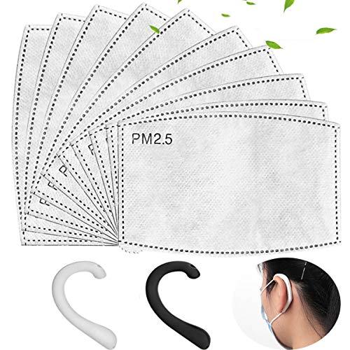 100 Stück PM 2,5 Auswechselbare Filter Aktivkohlefilter, 5 Schichten Anti-Dunst-Filter Tuch