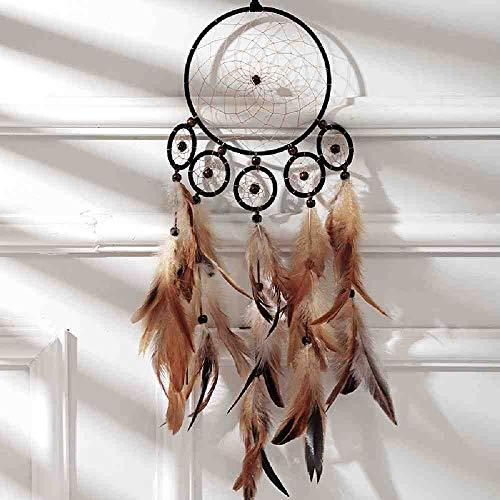 WAXY Indische zes Ring grote dromenvanger wind bel veer hanger huis ornamenten verjaardagscadeau winkel droom beste liefhebbers cadeau