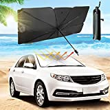 Car Windshield Sun Shade Foldable Pop Up Windshield Umbrella, Auto Sun Visor Protector Blocks Max UV Rays and Keeps Your Vehicle Cool While Protecting Car Interior