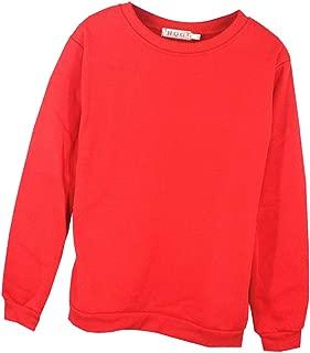 Prettyia Unisex Pullover Hooded Fleece Sweatshirt Red