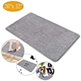 Indoor Doormat Super Absorbent Mud Mat, Magic Non Slip Door Mat Dirts Trapper Mat, Outdoor XL Doormat for Bathroom, Front, Inside and Entry Machine Wash Gray Rug (32' x 20' Large Mat) (G)