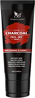 The Body Avenue Activated Charcoal Peel Off Mask, Deep Cleansing, Anti-Blackheads, Skin Brightening - 100g