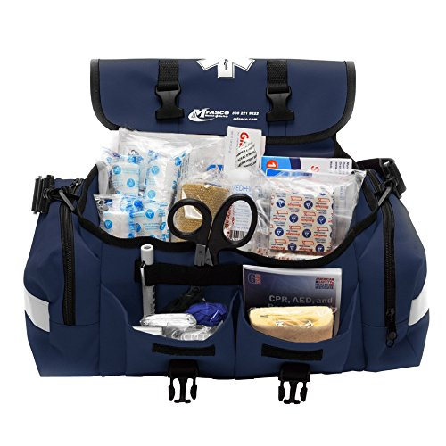 MFASCO - First Aid Kit - Complete Emergency Response Trauma Bag - for Natural Disasters - Blue