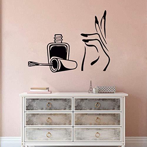 YFKSLAY Cheveux et Beauté Logo Wall Sticker Salon De Coiffure Décoration Beauté Filles Cheveux Styling Vinyle Decal Salon De Coiffure Fenêtre Affiche