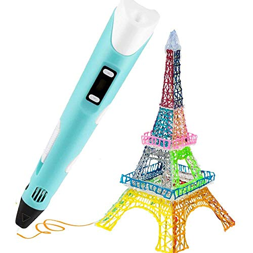 Wonepic 3D Printing Pen 3D Drawing Printing Pen Printer Pencil PLA Filament Refills LCD Display Children Puzzle Creative Toys Birthday Gifts pink