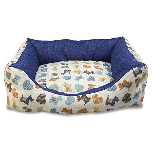 Arquivet Cama para perros Perritos azules - 50 x 45 x 17 cm
