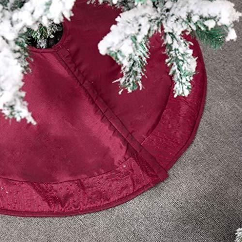 Boji Weihnachtsdecke, Baumdecke Weihnachtsbaum Rock Christbaumdecke Rund Rot Weihnachtsbaumdecke Christbaumständer Teppich Decke Weihnachtsbaum Deko (122CM)