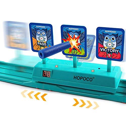Hopoco Móvil Objetivo Digital electrónico para Nerf, Objetivo Digital Electrónico para Pistolas Nerf con Restablecimiento Automático para Nerf N-Strike Elite/Mega/Rival Series (Solo Objetivo)