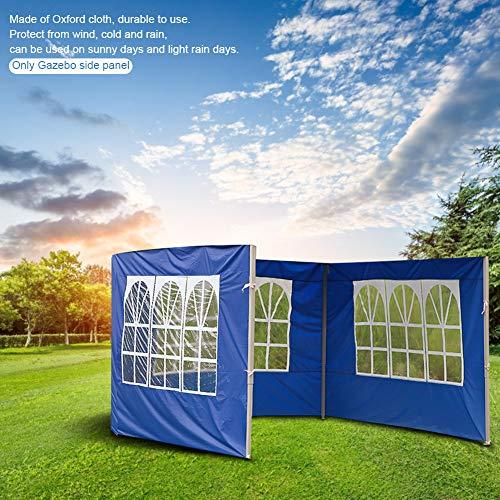 3 x 2 m gazebo da giardino, pannello laterale di ricambio, 3 x 3 m, tenda da campeggio, impermeabile, anti-UV, accessorio per tenda da esterno (blu 3 metri) (con finestre)