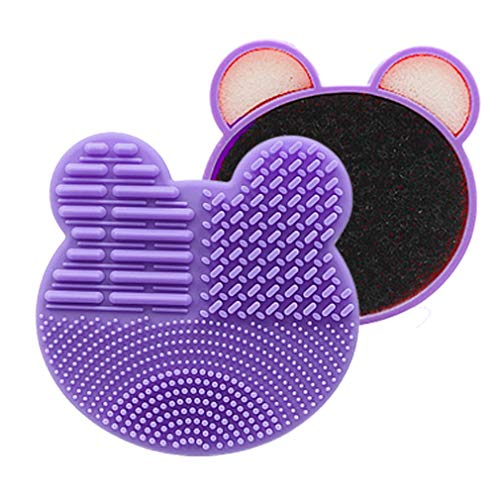 Nsdsb Lovely Brush Cleaner Lavage Brush Pad Tapis De Nettoyage Maquillage Brush Cleaner Violet