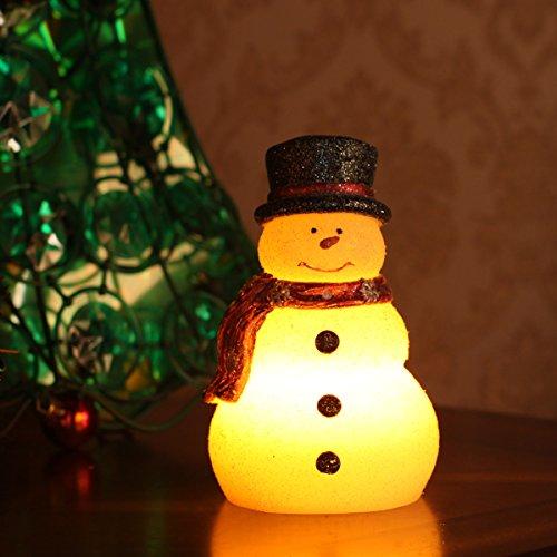 DXP Schneemann Deko Licht LED Rot Schal Weihnachtsbeleuchtung für Innen und Außen mit Einstellbarer 4 Oder 8 Stunden Timer Batteriebetrieb SKY15