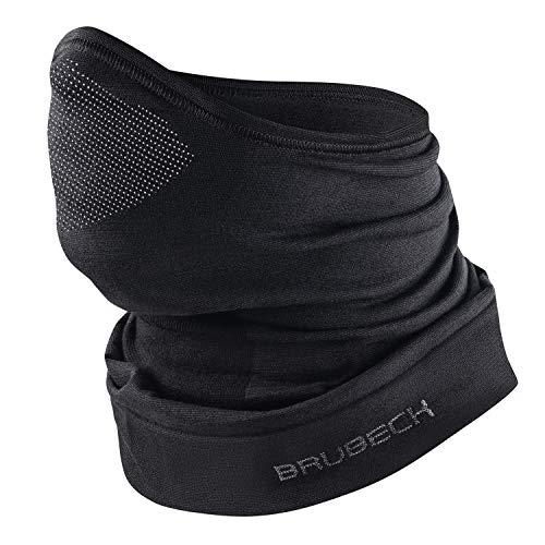 BRUBECK M-Pro Sturmhaube Halbmask | Balaclava 42% Merino | atmungsaktive Gesichtshaube Radfahren | Skimaske nahtlos | Gr. S - M | Schwarz | KM10780