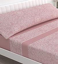 Victorio & Lucchino Juego de sábanas coralina - Modelo Beverly (Rosa, 90 cm)