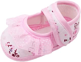 Casual Flats Shoes,Beppter Newborn Infant Baby Dot Lace Girls Soft Sole Warm Outdoor Sandals(Pink, 12~18 Month)
