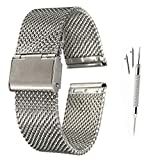 XIHAMA 22 mm Quickfit Montre Bracelet de Replacement en Acier Inoxydable Compatible avec Samsung...