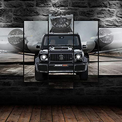 45Tdfc Moderne GemäLde 5 StüCk Barbus 800 G Class SUV Car Kreatives Geschenk Abstrakt Poster Wohnzimmer Wohnkultur Hd Mit 150 * 80Cm