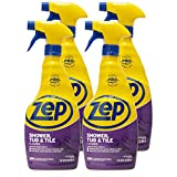 Zep Shower Tub and Tile Cleaner 32 Ounce ZUSTT32 (Case of 4) Breaks up Tough Buildup on Contact