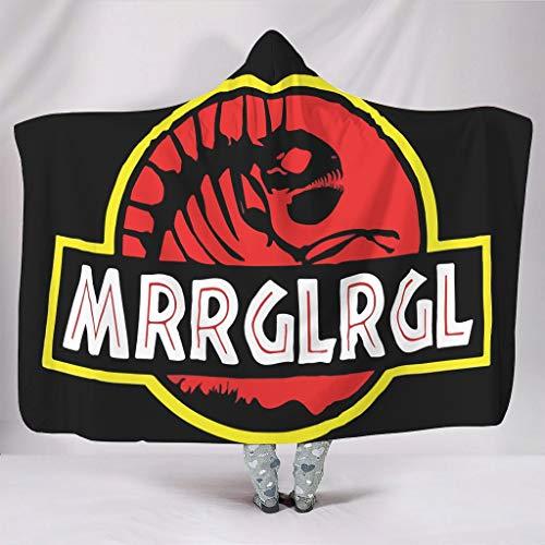 WellWellWell Mrglrgl Park - Manta con capucha para hombres y mujeres, color blanco, 150 x 200 cm