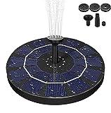 AIMTOP Solar Springbrunnen, 2.5W Solar Teichpumpe mit Solar Panel Solar Wasserpumpe Solar Schwimmender Fontäne Pumpe Solar Brunnen für Gartenteich Oder Springbrunnen Vogel-Bad...