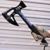 KCCEDGE BEST CUTLERY SOURCE Axe Hatchet Hammer Tactical Axe Survival Axe Hunting Knife 17 Inch Overall Razor Sharp Edge Camping Accessories Camping Gear Survival Kit Survival Gear Tactical Gear 77794