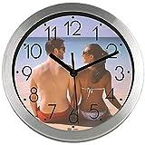PROMO SHOP Gran Reloj de Pared Personalizado (con Logo, Foto o Imagen) · Carcasa de Aluminio Cepillado (Esfera A) · Mecanismo Silencioso · Reloj Cocina Pared con 12 Números · Incluye Caja Regalo