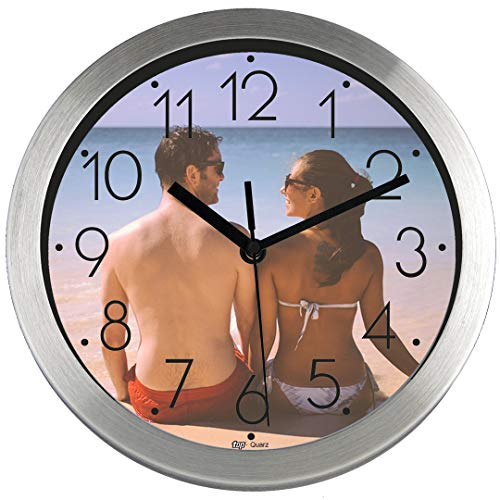 PROMO SHOP Gran Reloj de Pared Personalizado (con Logo, Foto o Imagen) · Carcasa de Aluminio Cepillado (Esfera A) ·...