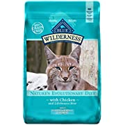 Blue Buffalo Wilderness High Protein, Natural Adult Indoor Hairball Control Dry Cat Food, Chicken 11-Lb