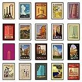 the lazy panda card company Vintage Travel Poster Set (Set