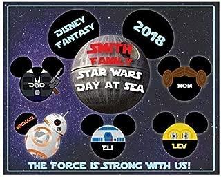 8 x 10 MAGNET SIGN Star Wars Inspired Family Magnet for Disney Cruise