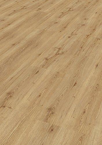 1 Paket (3,00 m²) PVC Bodenbelag / Vinylboden zum Klicken / wasserfest - Eiche astig